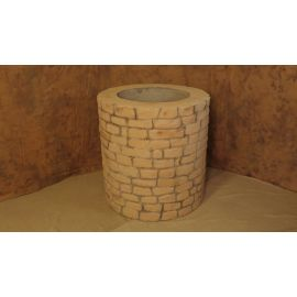 Faux Mud Brick Well