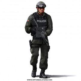 Colombia National Police Costume