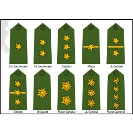 Colombian Officer Rank Insignias