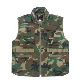 Woodland Camo Vintage Vest