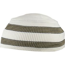 Men's Knitted Striped Kufi Cap